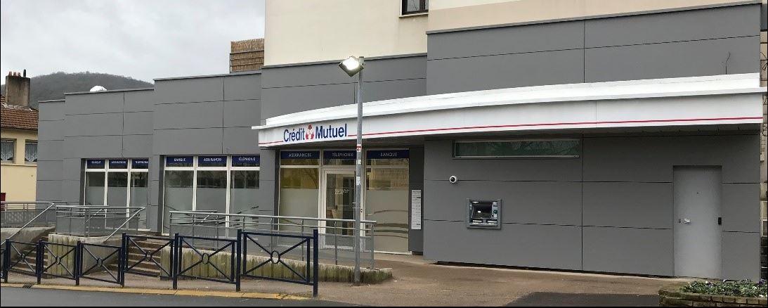 Agence Crédit Mutuel à ROMBAS – ITE + Bardage : Rénovation
