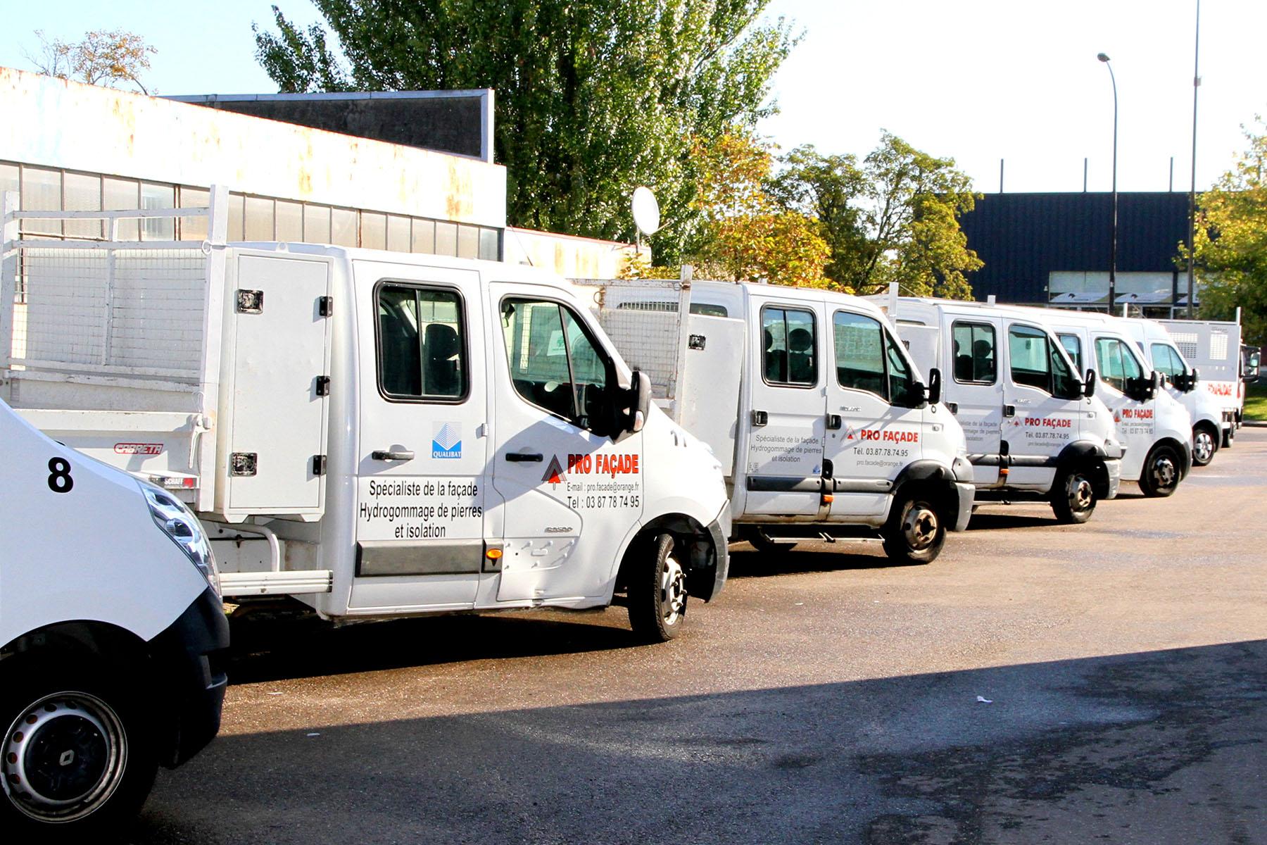 vehicules - pro façade - professionnel de la façade Metz
